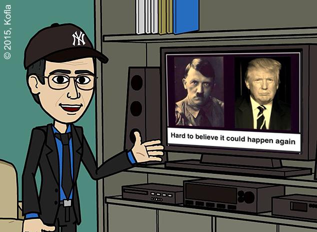 Donald Trump y Adolfo Hitler