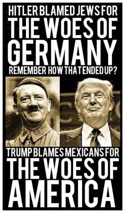Hitler y trump