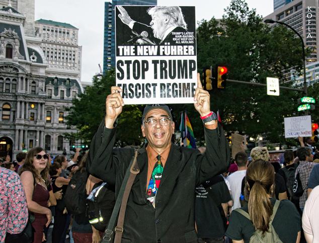 Trump Filadelfia Protesta