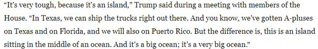 Trump PR is an island excuse