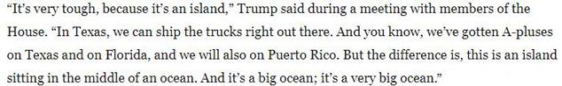 Trump PR is an island excuse