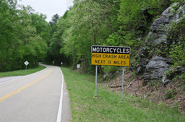 Deals Gap Motorcycle Crash Sign