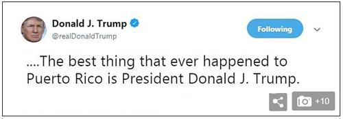 Trump tweet Puerto Rico